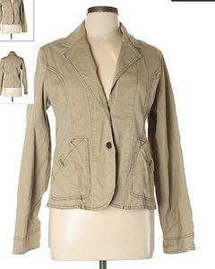 Tan Khaki jacket size Large  jean jacket style
